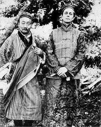 Lama Sandup a Evans-Wentz asi v roce 1919