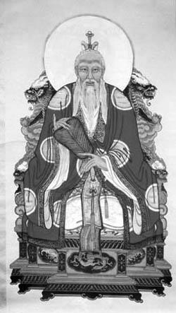 Lao-c' jako božstvoDaode Tianzun